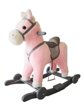 Лошадка каталка-качалка Amarobaby Prime розовый
