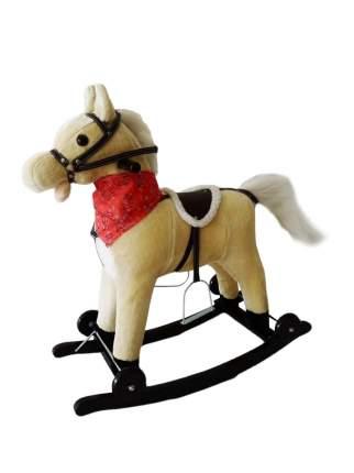 Лошадка каталка-качалка Amarobaby West бежевый