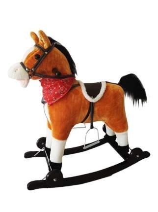 Лошадка каталка-качалка Amarobaby West коричневый