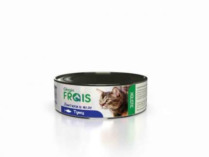 Консервы Glogin Frais Holistic для кошек ломтики в желе, тунец, 100 г  6 шт