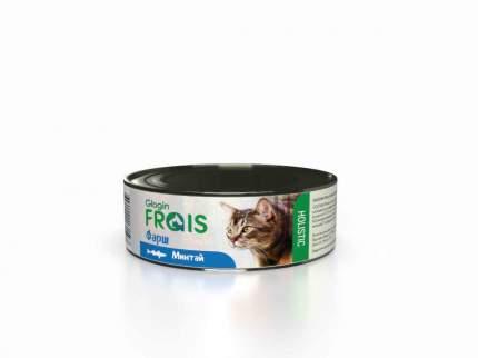 Консервы Glogin Frais Holistic для кошек фарш, минтай, 100 г  6 шт