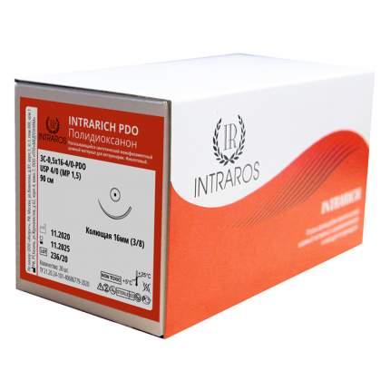 Синтетические рассасывающиеся нити Intrarich ПОЛИДИОКСАНОН ЗС-О,5х16-(4-О)-РDО-(2-90)