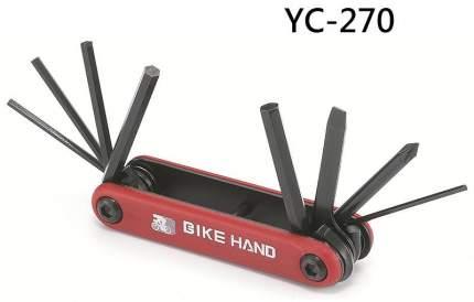 Велосипедный мультитул Bike Hand YC-270 8 в 1 красный