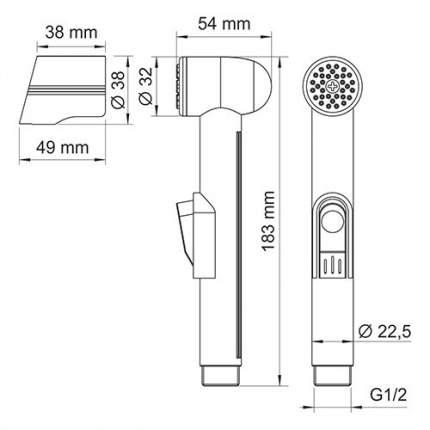 Гигиеническая лейка с фиксатором WasserKRAFT A092