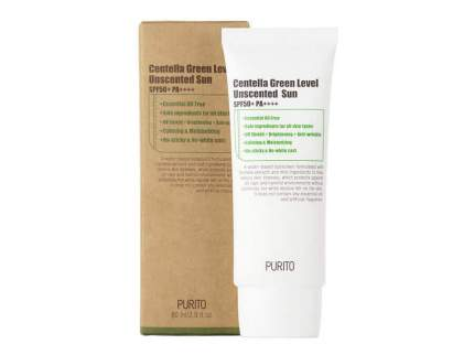 PURITO Cолнцезащитный крем с центеллой Centella Green Level Unscented Sun SPF50+PA+++
