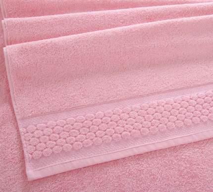"Полотенце Махровое ""Нормандия розовый"" 70х140 плотность 500 г/м2"