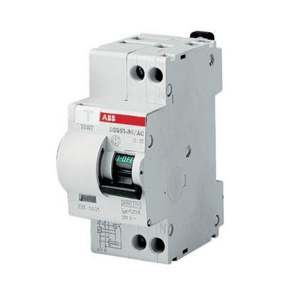 Дифференциальный автоматический выключатель ABB 1п+N 25А 30mА DSH941R-AС