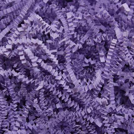 Бумажный наполнитель для упаковки и декора подарков, цвет бледно-лиловый