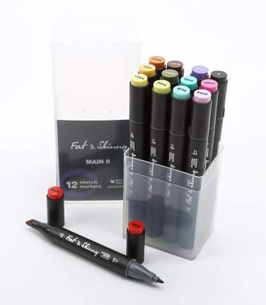 Набор маркеров Fat&Skinny Main II 12 штук