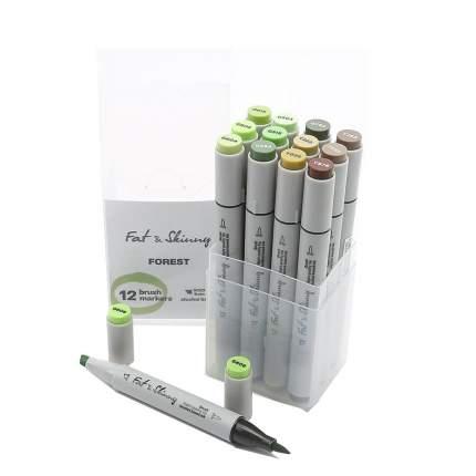 Набор маркеров Fat&Skinny Brush Forest 12 штук