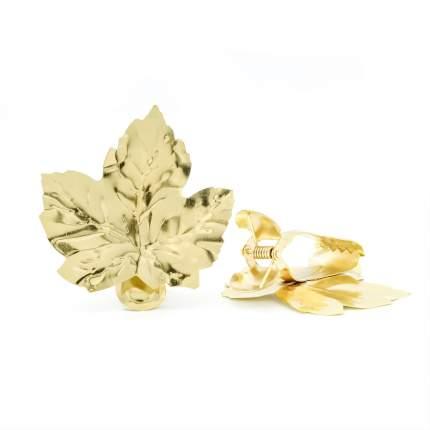 Подхват для штор маталлический   листок/золото