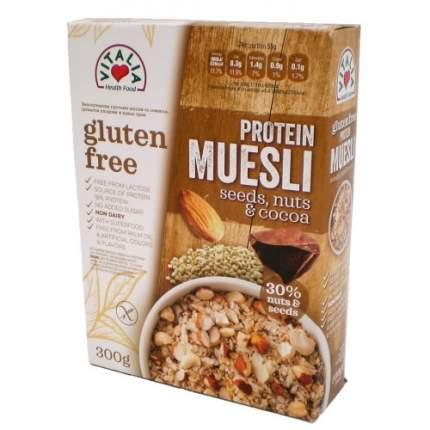 Мюсли семена/орехи/какао бобы vitalia без сахара без глютена 1х300 граммов