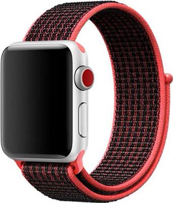 Чехол для смарт-часов Eva для Apple Watch 38/40mm Черный/Красный (AVA009BR)