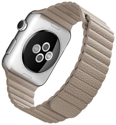 Чехол для смарт-часов Eva для Apple Watch 42/44 mm Бежевый (AWA008BG)