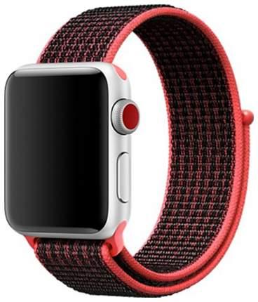 Чехол для смарт-часов Eva для Apple Watch 42/44 mm Черный/Красный (AWA009BR)