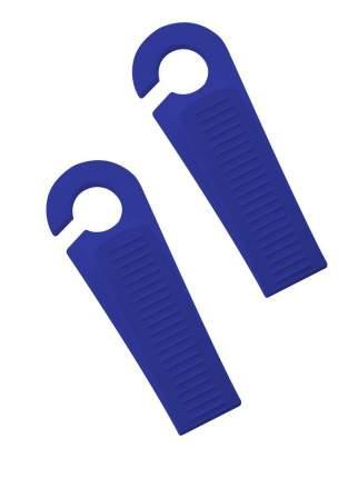 Фиксатор для дверей Комфорт +, Клин, синий, 2 шт
