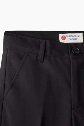Брюки для мальчика Button Blue, цв.чeрный, р-р 134