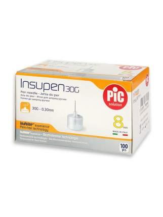 Набор Иглы одноразовые Insupen к шприц-ручке 30G 0.30mm x 8mm 100 шт. (3 упаковки)