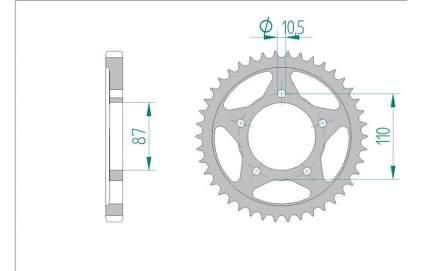 Звезда задняя AFAM 14601-48 для мотоциклов