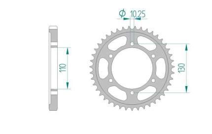Звезда задняя AFAM 12813-44 для мотоциклов