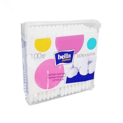 Ватные палочки Bella cotton, квадратная коробка 100 шт