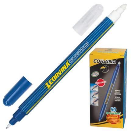 Капиллярная ручка Corvina Синие чернила No problem двусторонняя (пиши-стирай)
