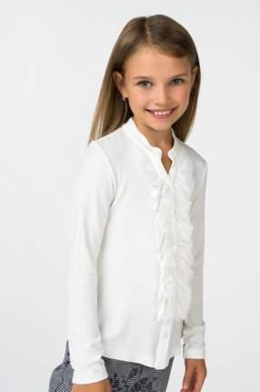 Блузка для девочки Brums, цв.белый, р-р 122