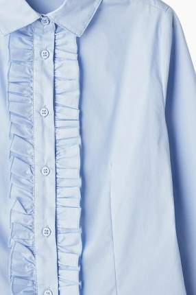 Блузка для девочки Button Blue, цв.голубой, р-р 122