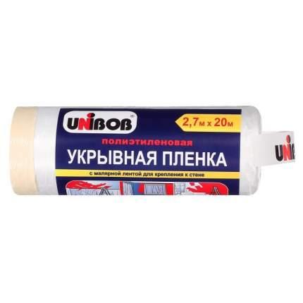 """Полиэтиленовая укрывная пленка """"Unibob"""", с малярной лентой, 2,7х20 метров"""