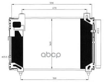 Радиатор кондиционера NRF 35596