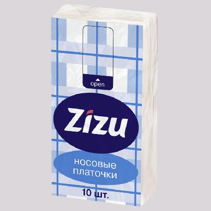 Платочки бумажные Zizu носовые №10