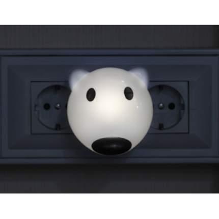 Ночник ЭРА NN-603-LS-W белый медведь