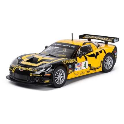 """Bburago Коллекционная машинка 1:24 """"RACING - Chevrolet Corvette C6R"""" жёлто-черный"""