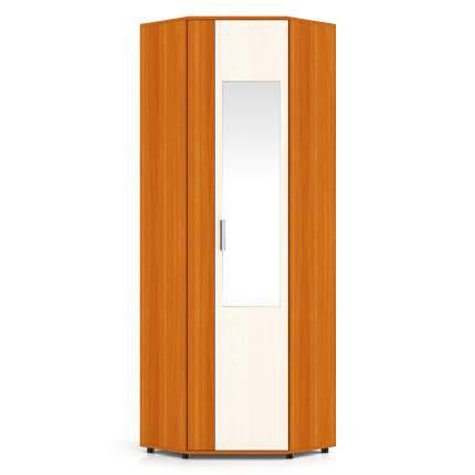 Шкаф угловой с зеркалом Мебельный Двор П5 вишня/дуб, 70х70(36)х216 см., универс. дверь