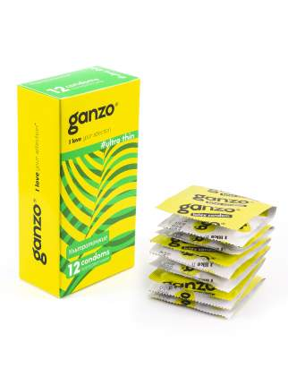 Презервативы Ganzo Ultra Thin на водной основе