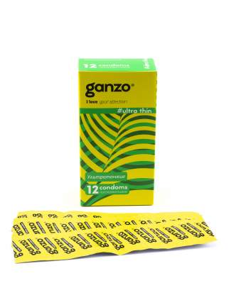 Презервативы Ganzo Ultra thin 12 шт.