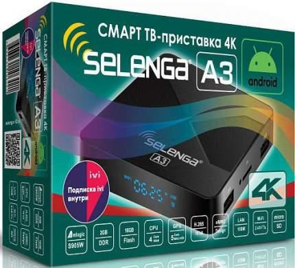 DVB-T2 приставка Selenga A3 4К Black
