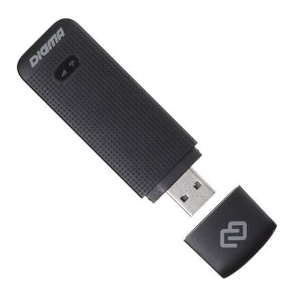 Устройство для мобильного интернета Digma Dongle USB Wi-Fi Firewall +Router черный