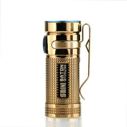 Туристический фонарь Olight S Mini CU Raw Brass Медь, черный, 5 режимов