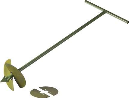 Бур садовый, со сменными ножами, 150 мм, 200 мм, длина 1000 мм