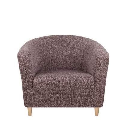 Чехол на кресло Тела Ракушка Безарро кофейный
