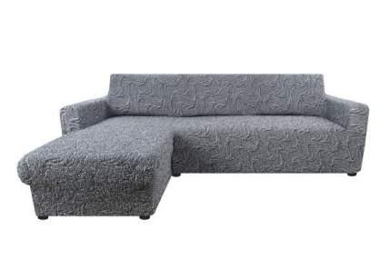 Чехол на угловой диван выступ слева Аричиато Бриллианте синий