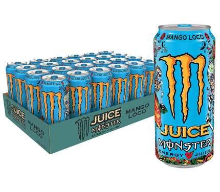 "Энергетический напиток BLACK MONSTER ""Mango Loco"" 449 мл (коробка 12 штук)"