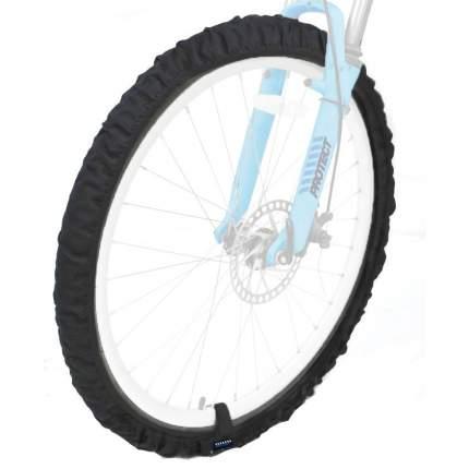 """Комплект эластичных чехлов для велосипедных колес 26-29"""" PROTECT - Черный (555-551)"""