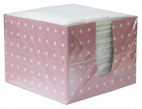 Салфетки Лилия бумажные однослойные 24 см х 24 см белые в коробке