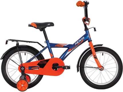 """Велосипед NOVATRACK 14"""" ASTRA синий, тормоз нож, крылья, багажник, полная защ.цепи"""