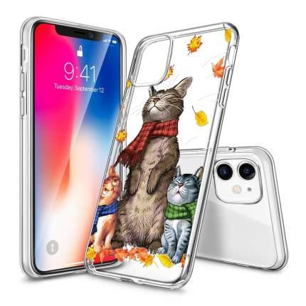 """Чехол для iPhone 11 """"Уютные коты"""""""
