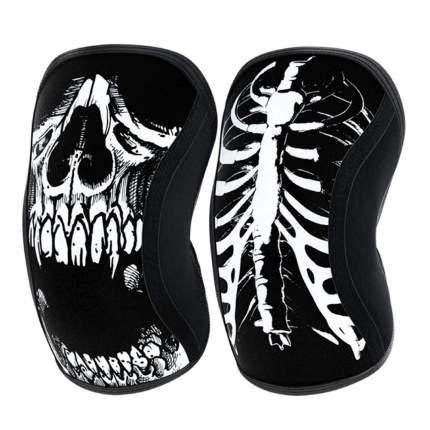 Компрессионные наколенники Rocktape Assassins, Skull, толщина 7 мм, размер M