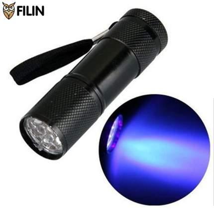 Ультрафиолетовый фонарик Filin P09UV-395 с длиной волны 395нм