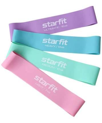 Фитнес-резинки Starfit Core Es-203 латекс, комплект пастель, 4 шт